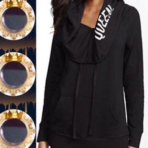 🍁FALL INTO🍁 'Queen' Hooded Black Sweatshirt